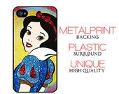 Disney Princess Classic Snow White  iPhone 5 Metal Print Case with Plastic Surround, red, girly, glitter, poison apple, accessories