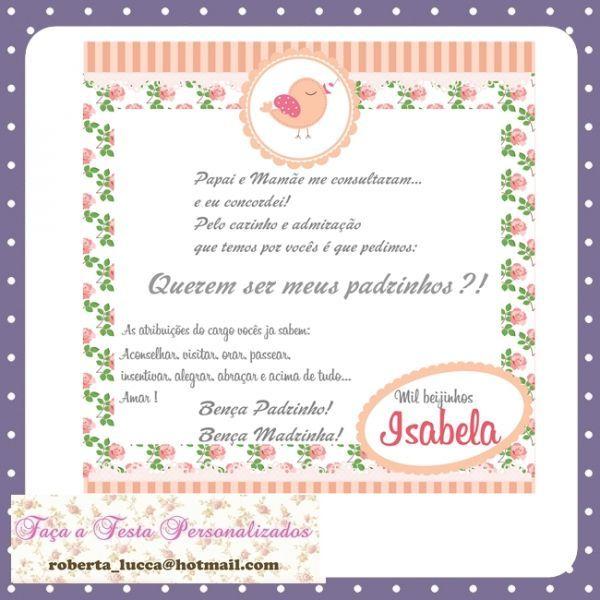 Convite Padrinhos Batismo 9 Modelos De Convite Convite Padrinhos
