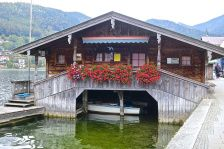 Lake Tegernsee And The Seehotel Uberfahrt Lakefront Living House Boat Lakefront Property