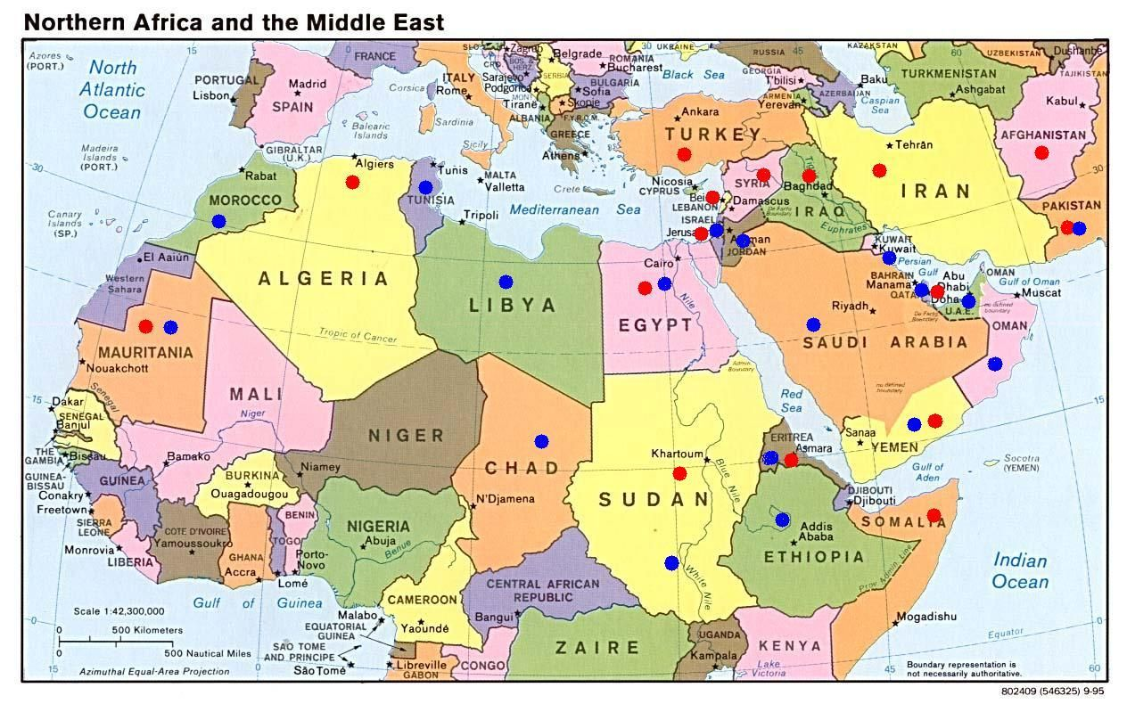 This Is A Strategic Map Of The Middle East And North
