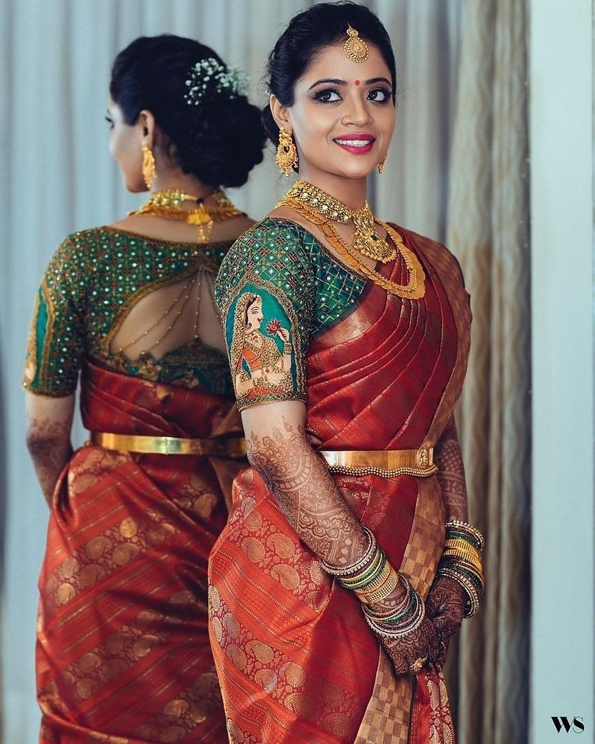 "Photo of South Indian Brides on Instagram: ""This South Indian bride nailed her wedding look 😍😘 📷 @studio149 Follow @southindianbridalfashion for South Indian brides inspiration"""