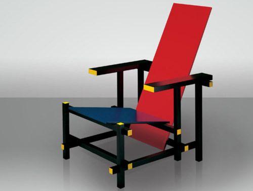 Stoel Gerrit Rietveld : Stoel van rietveld geinspireerd door de stijl de stijl