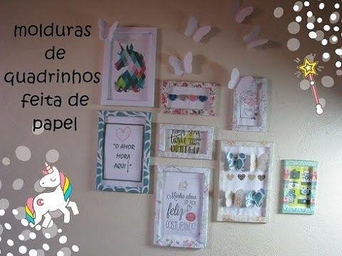 ♥molduras para quadrinhos  de papel  passo a passo♥
