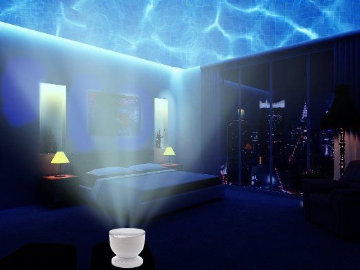 Ocean Wave Night Light Projector And Music Player Romance And