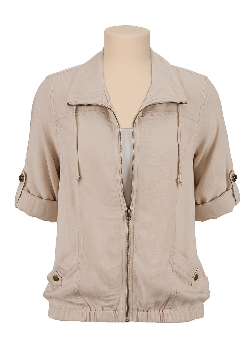 Zip front soft jacket