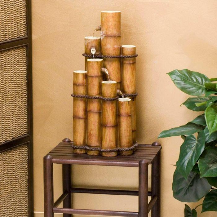 Good bambus deko deko aus bambus wanddeko windspiel bambus brunnen