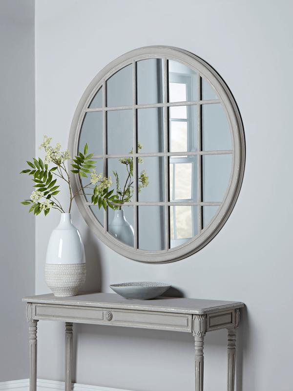 Round Grey Window Mirror Wall Mirrors Mirrors Mirror Wall Window Mirror Mirrors Uk