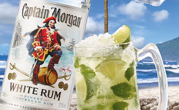 Mojito Cocktail Recipe How To Make A Mojito With Captain Morgan Rum Drinks Easy Rum Cocktail Mojito Recipe