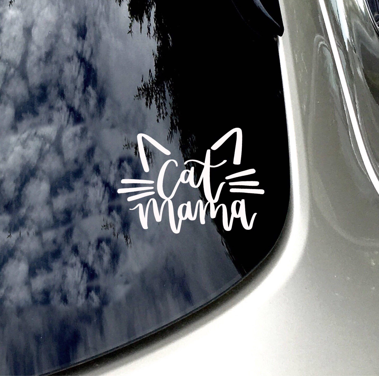 Cat Mama Car Decal Cat Whiskers Sticker Car Accessory Cat Mom Cat Sticker Cat Lover Sticke Pink Car Accessories Dog Car Accessories Preppy Car Accessories [ 2969 x 3000 Pixel ]