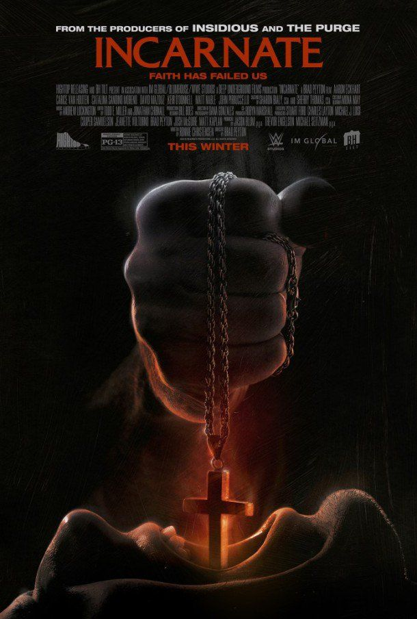 New Poster For INCARNATE Film From WWE Studios / Blumhouse    in