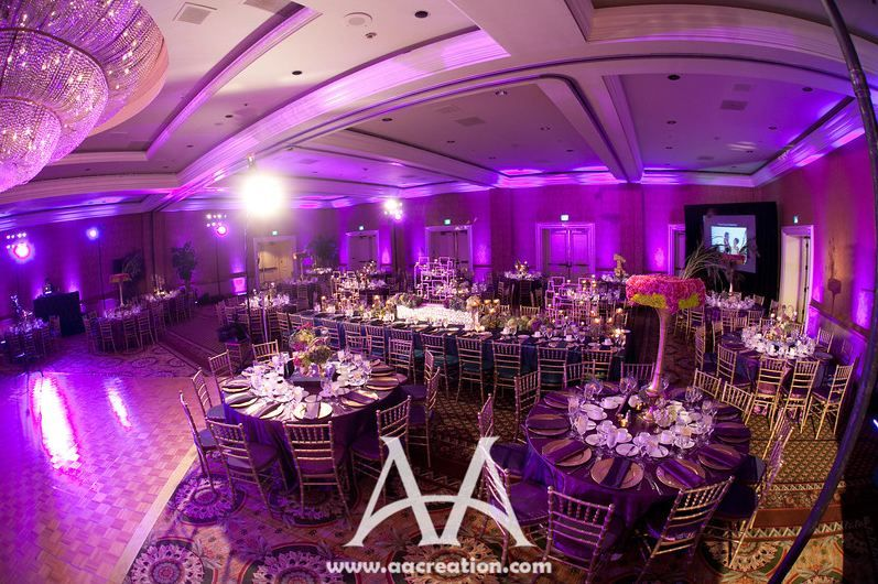 Elegant wedding reception decoration weddings free for Pictures of wedding venues decorated