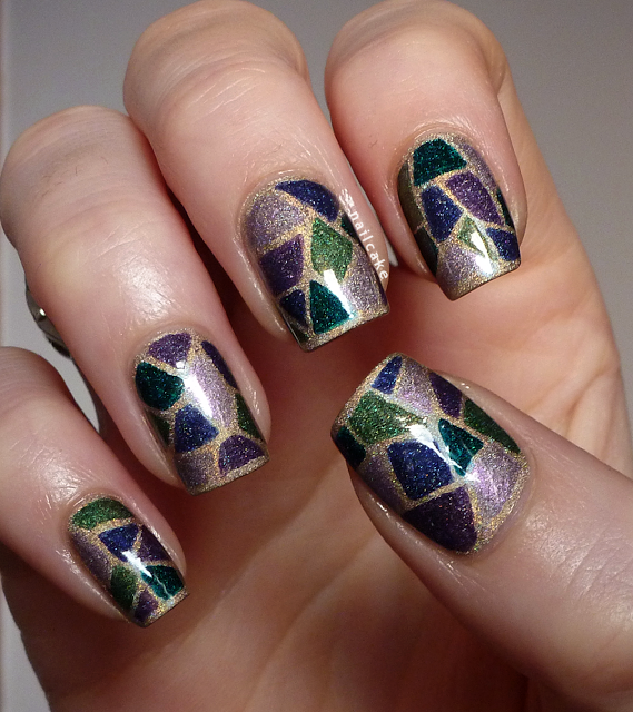 Nail Cake A England Kiko Stained Glass Nail Art
