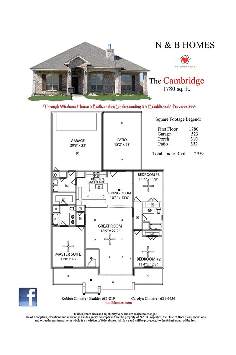 Cambridge 1 780 Sqft Floor Plans Master Suite Bedroom New Homes For Sale