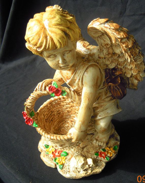 Vintage Cherub Angel Statue by PBandJMosaics on Etsy