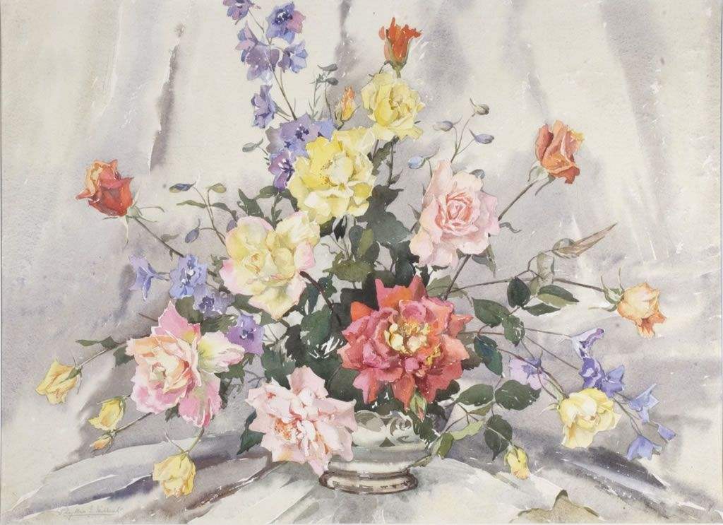 Flowers and still life painting of 18-20 centuries, part 2 (108 works)