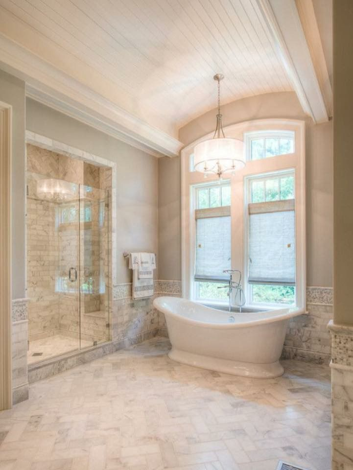 One big window would make such a statement as a backdrop to that tub
