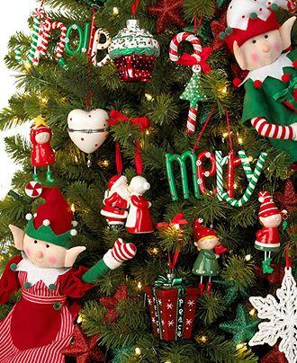 Holiday Lane Christmas Ornaments Elf Kisses Tree Theme Christmas Tree Themes Holiday Lane Mac Christmas Tree Themes Metal Ornament Tree Shabby Christmas