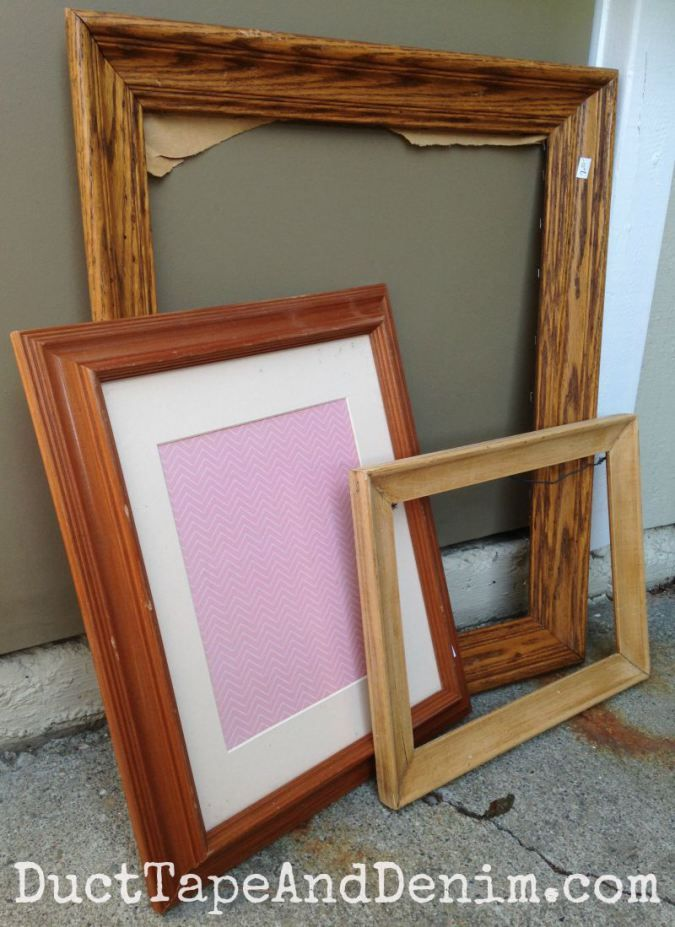 How to Turn Thrift Store Frames into DIY Jewelry Display | Chalky ...