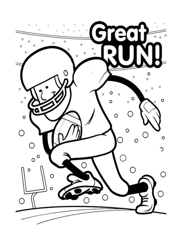 Printable Super Bowl Great Run Coloring Pages | Super Bowl party ...