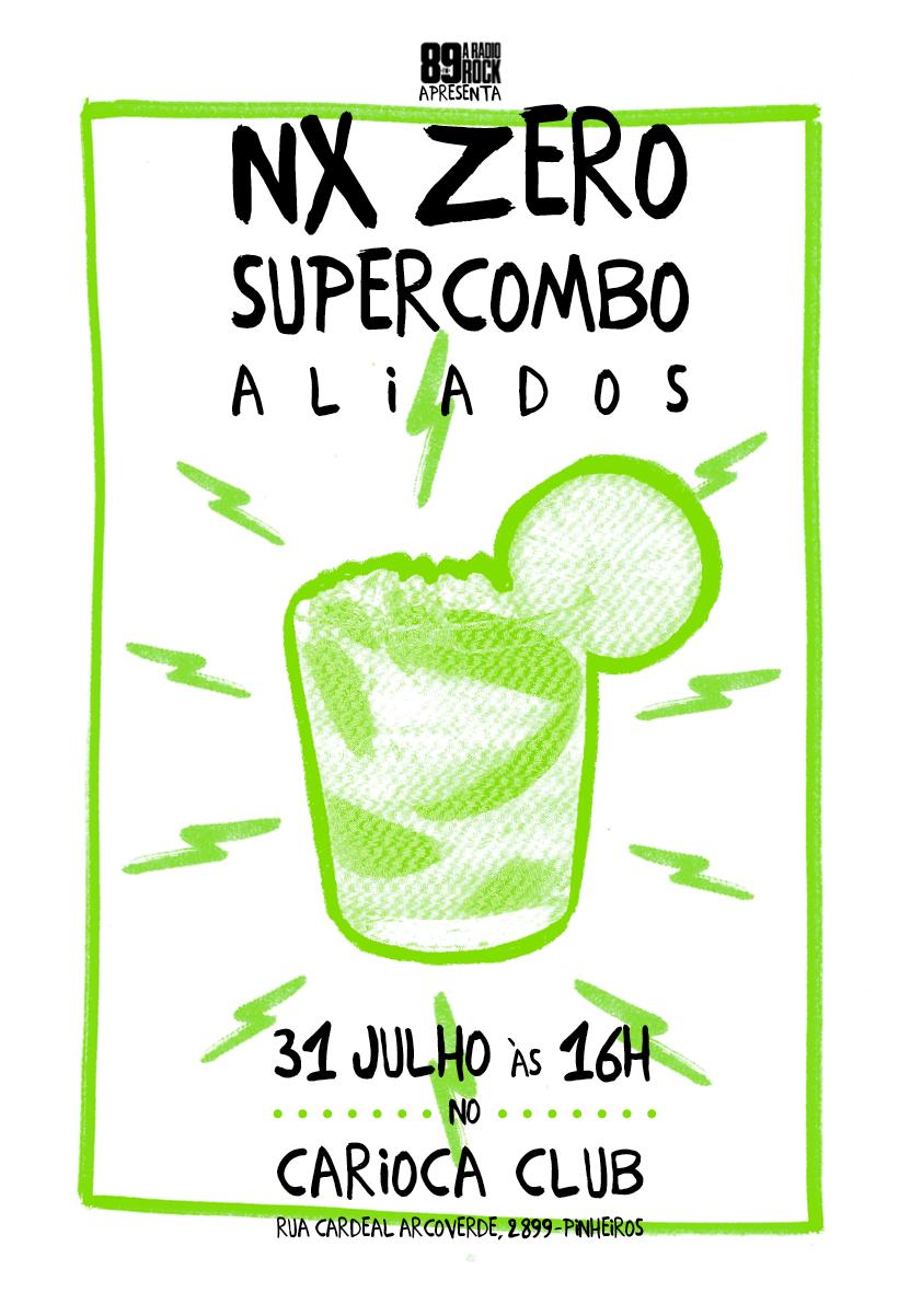 NX Zero / Supercombo / Aliados (Gig Poster) on Behance