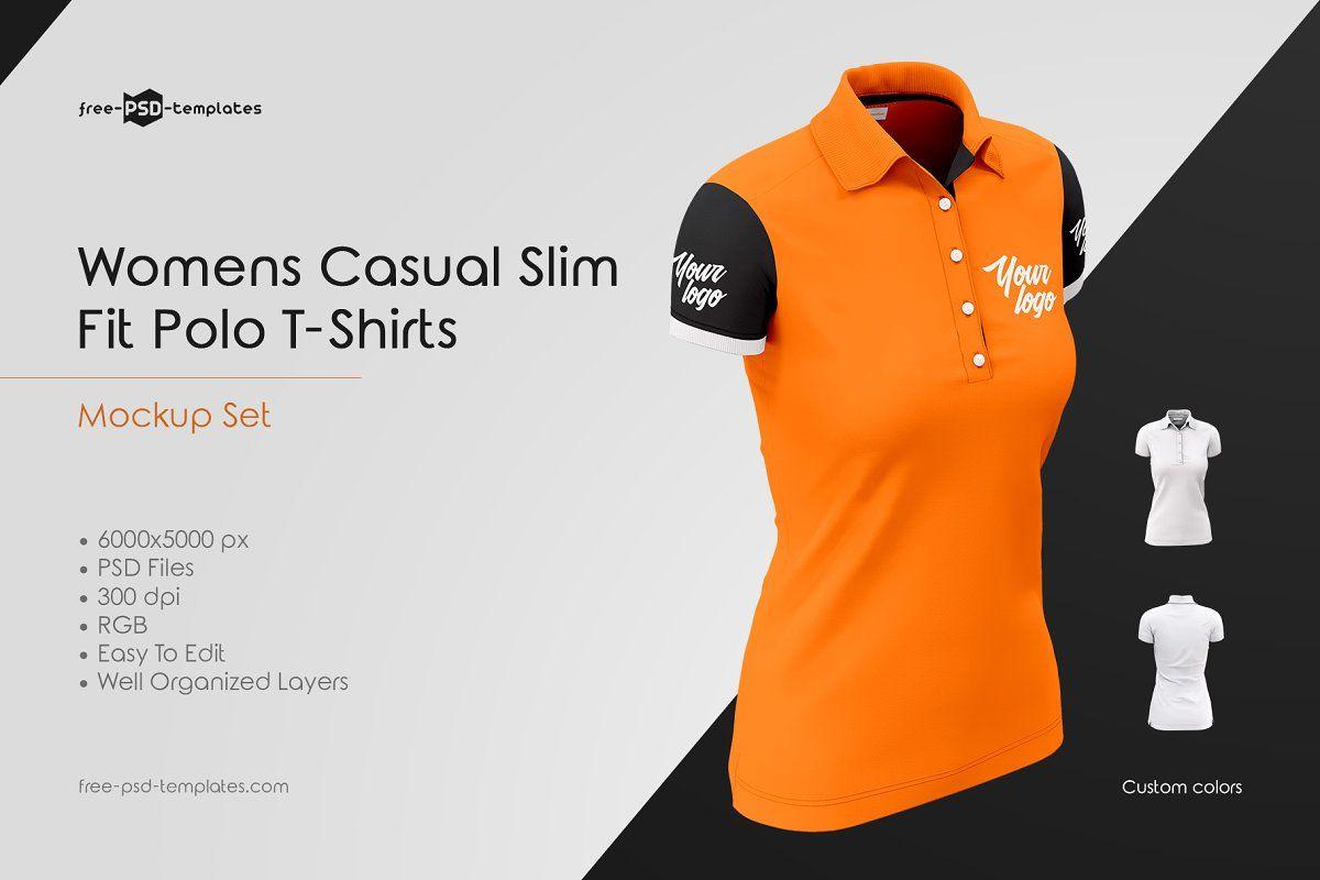 Download Womens Polo T Shirts Mockup Set Shirt Mockup Tshirt Mockup Polo T Shirts