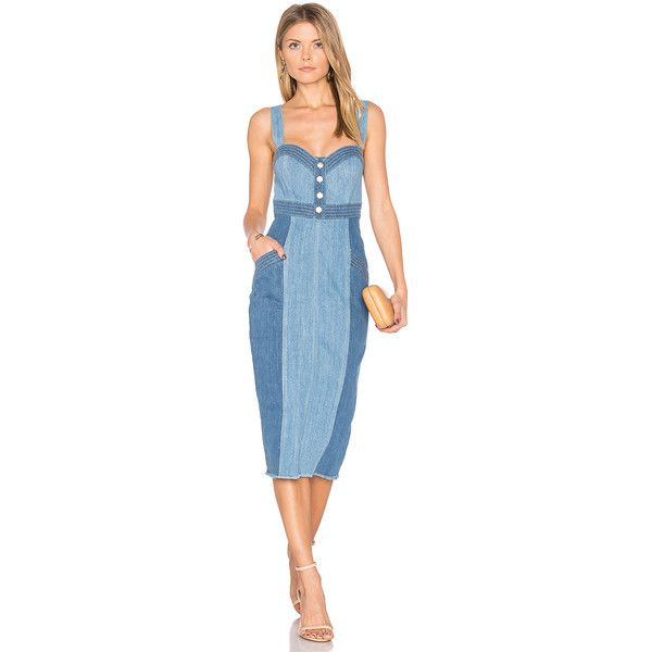 4bb175c6ed n   nicholas Denim Pinafore Dress featuring polyvore women s fashion clothing  dresses button front denim dress denim pinafore dress pinafore dresses  pinny ...