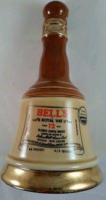 RARE 1969 Jim Beam Bell's Royal Vat Blended Scotch Whisky Liquor Decanter-Empty