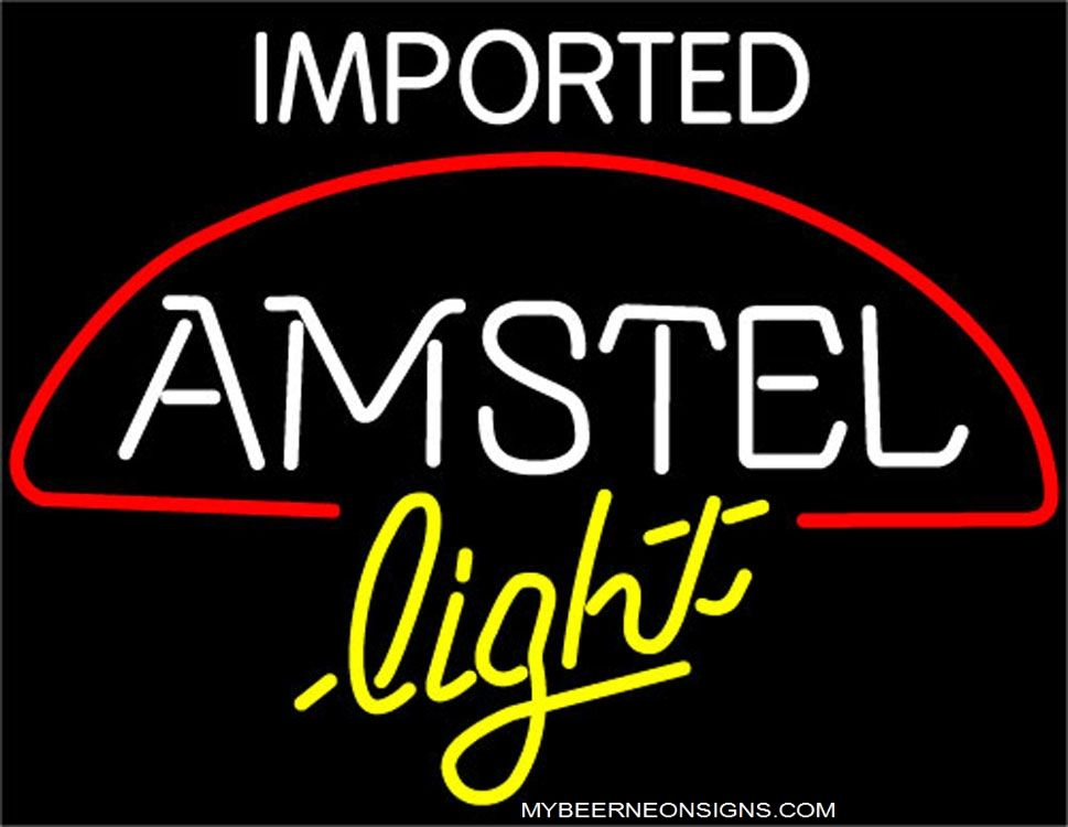Amstel Light Imported Beer Neon Sign Light Size 31 W X 24 H
