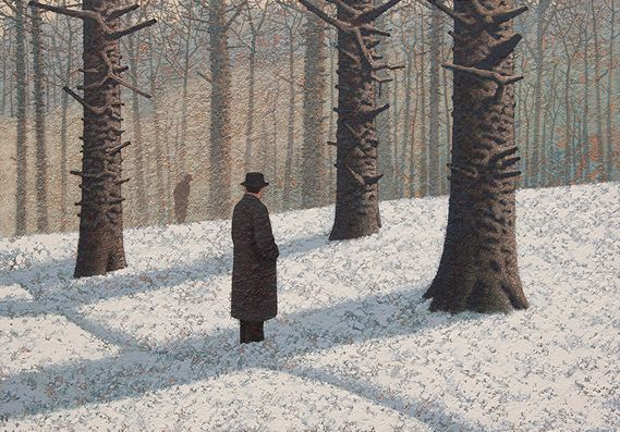 Creative Review - Enigmatic paintings by Mark Edwards on show at Catto