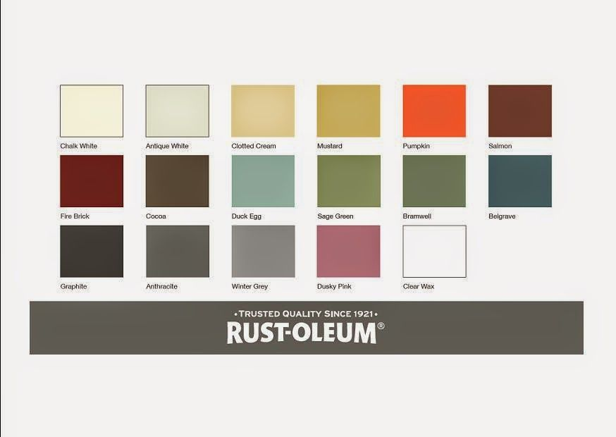 Rust Oleum Colour Chart Spray Paint Colors Paint Color Chart Chalk Paint Colors