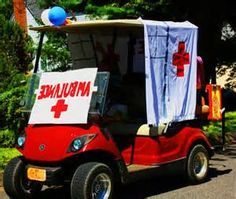 golf cart ambulance also fall and halloween decorations pinterest rh