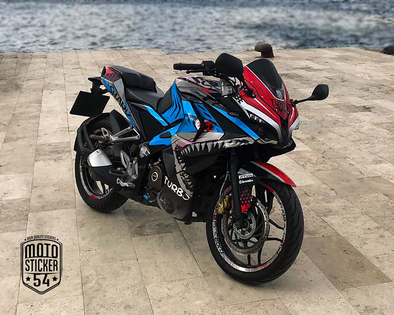 Bajaj pulsar rs200 turbo shark sticker kit