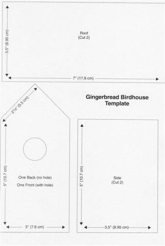 gingerbread bird house template Templates Gingerbread house