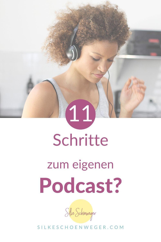Du überlegst schon seit geraumer Zeit, selbst mit einem Podcast zu starten. Bisher hast du dich aber nicht getraut, weil du die Technik scheust? In meinem aktuellen Blogartikel zeige ich dir, welche 11 Schritte du gehen darfst, um deinen eigenen Podcast zu erstellen, du bekommst jede Menge Podcast-Tipps und kannst danach direkt loslegen! #Podcast #PodcastTipps #PodcastStart #silkeschoenweger