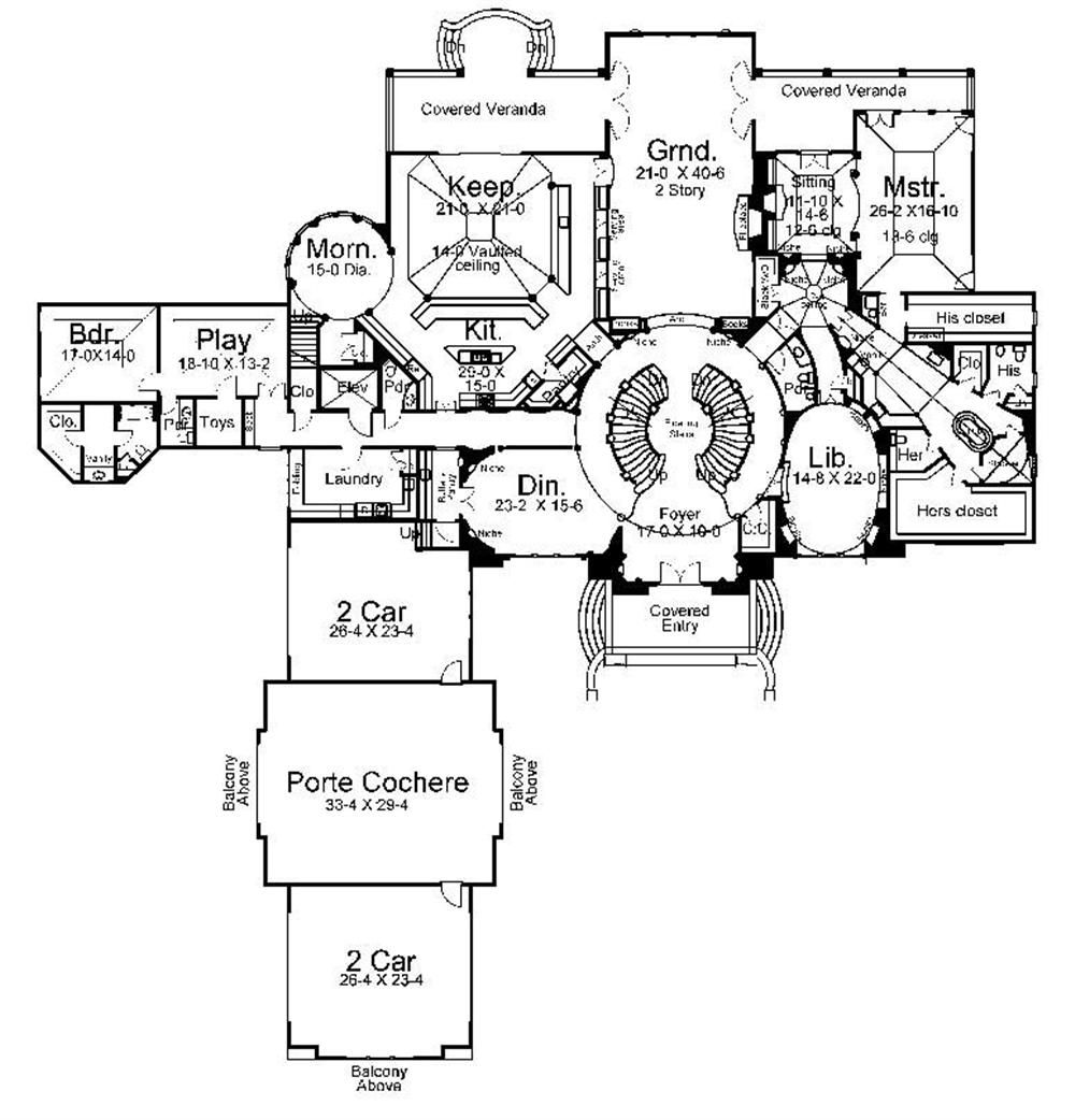 Floor plan first story for luxury house plans ar cheverny for Luxury houses plans
