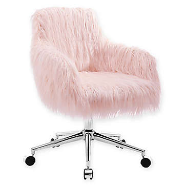 Fuzzy Desk Chair Bed Bath Beyond In 2020 Desk Chair Comfy Pink Desk Chair Cheap Desk Chairs