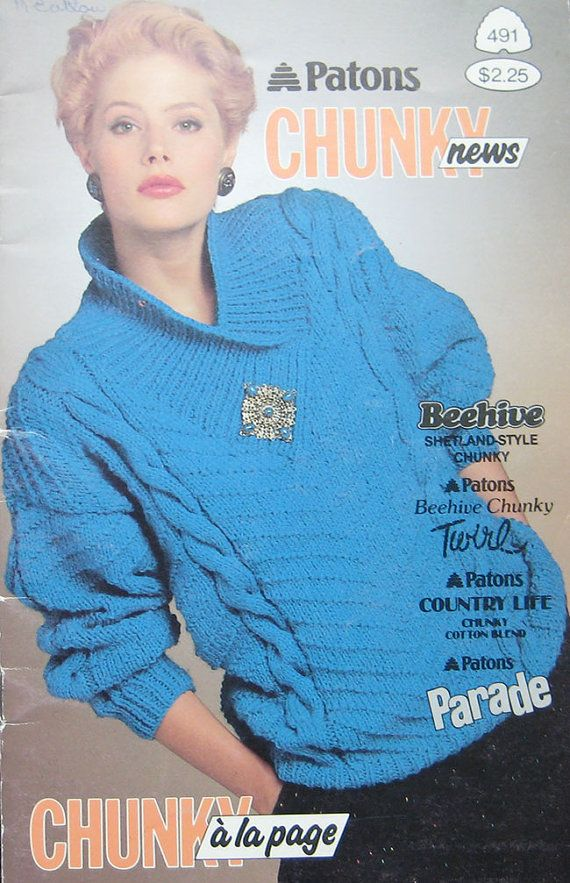 Patons Chunky Sweater Knitting Pattern Book Knitting For Women