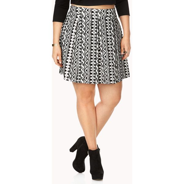 FOREVER 21+ PLUS SIZES Enchanted Velveteen Skater Skirt (£13) via Polyvore featuring skirts, plus size, knee length circle skirt, plus size knee length skirts, knee length skater skirt, knee length skirts and forever 21 skirts