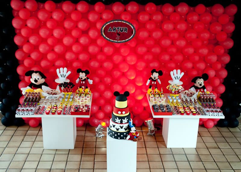 Mickey mouse birthday party ideas google search for Baby mickey decoration ideas