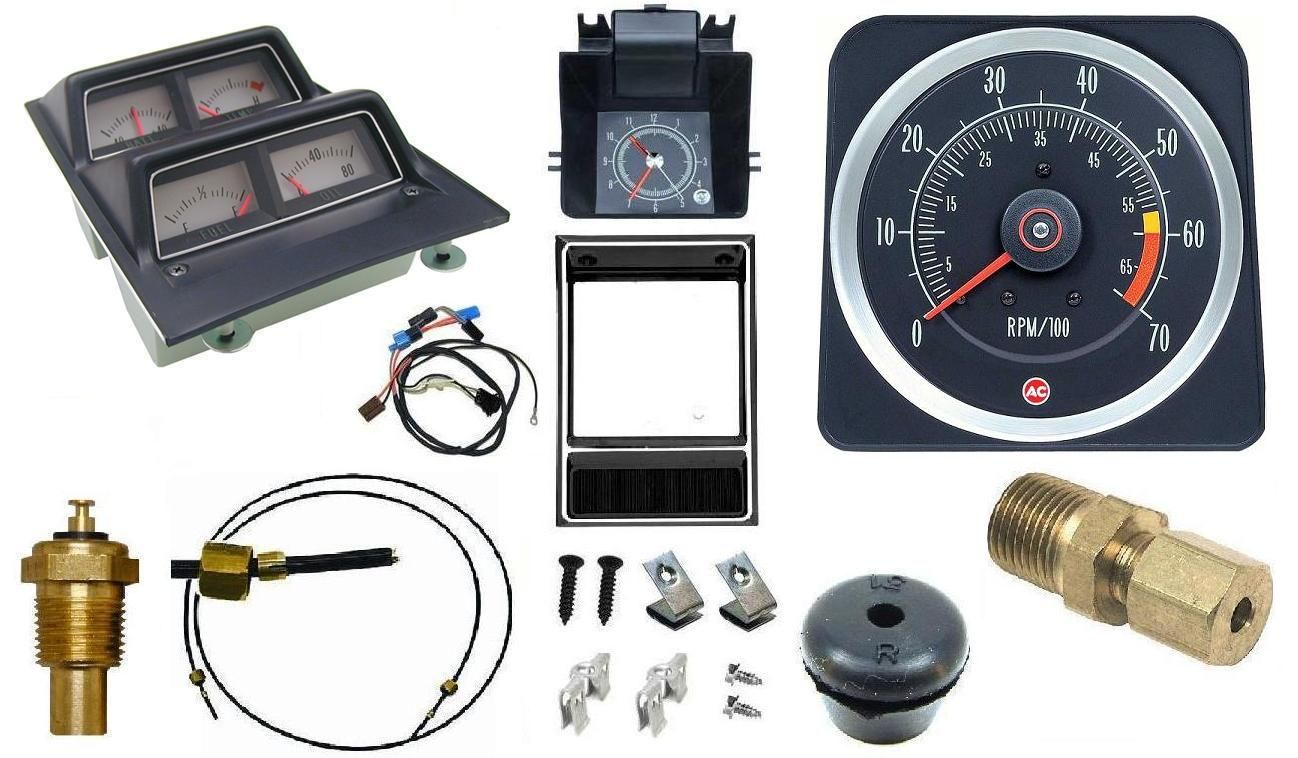 1969 Camaro Dash Tach Console Gauge Package Kit W 6 7 Tach Part Int 2878 Camaro Camaro Restoration Used Camaro