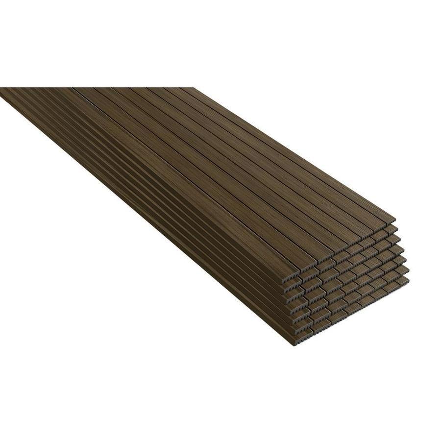 Trex Enhance Naturals 56 Pack 16 Ft Coastal Bluff Composite Deck Board Cb010616e2s56 In 2020 Composite Decking Boards Trex Enhance Composite Decking