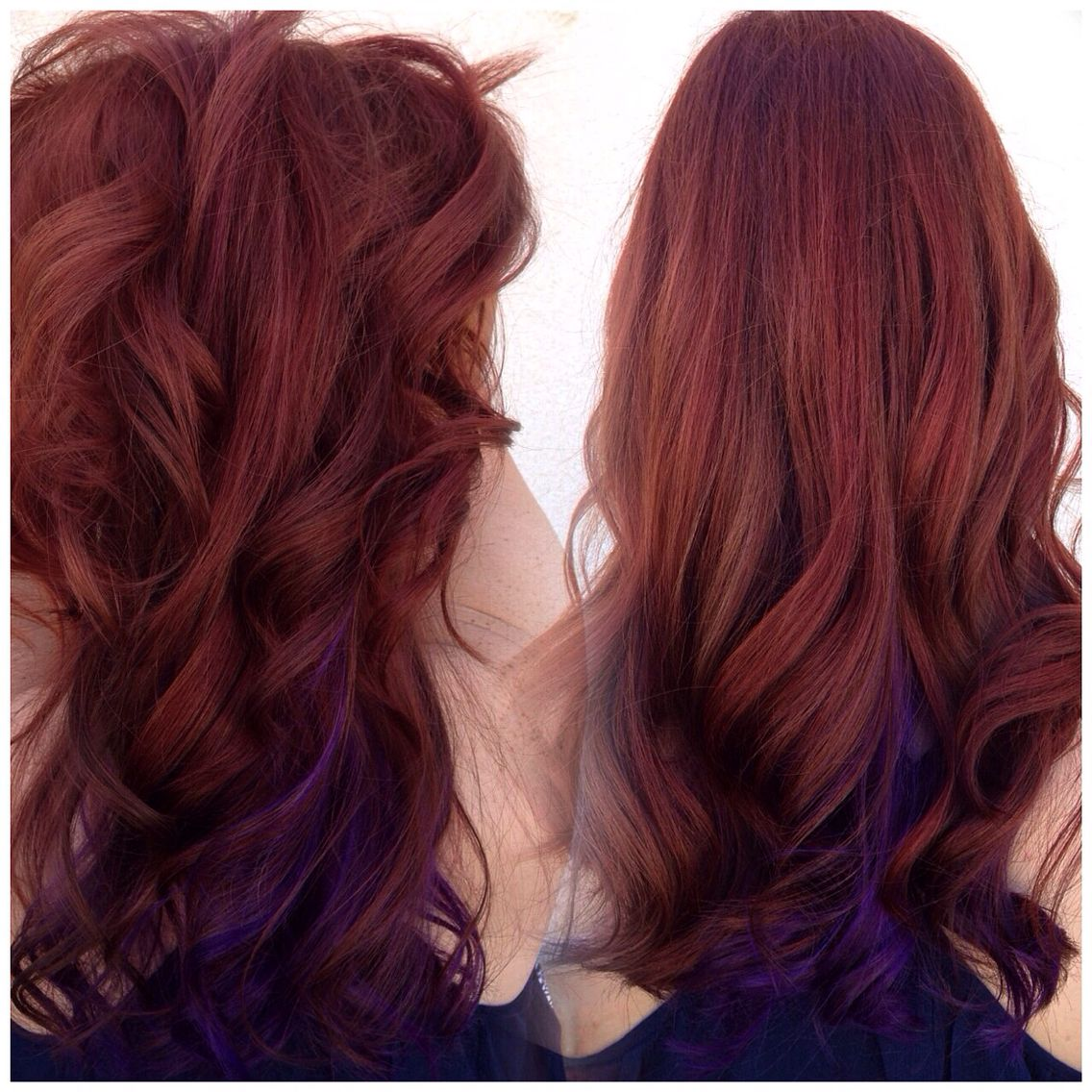 Red Copper Hair Violet Underneath Hair Inspo Color Hair Dyed Red Hair