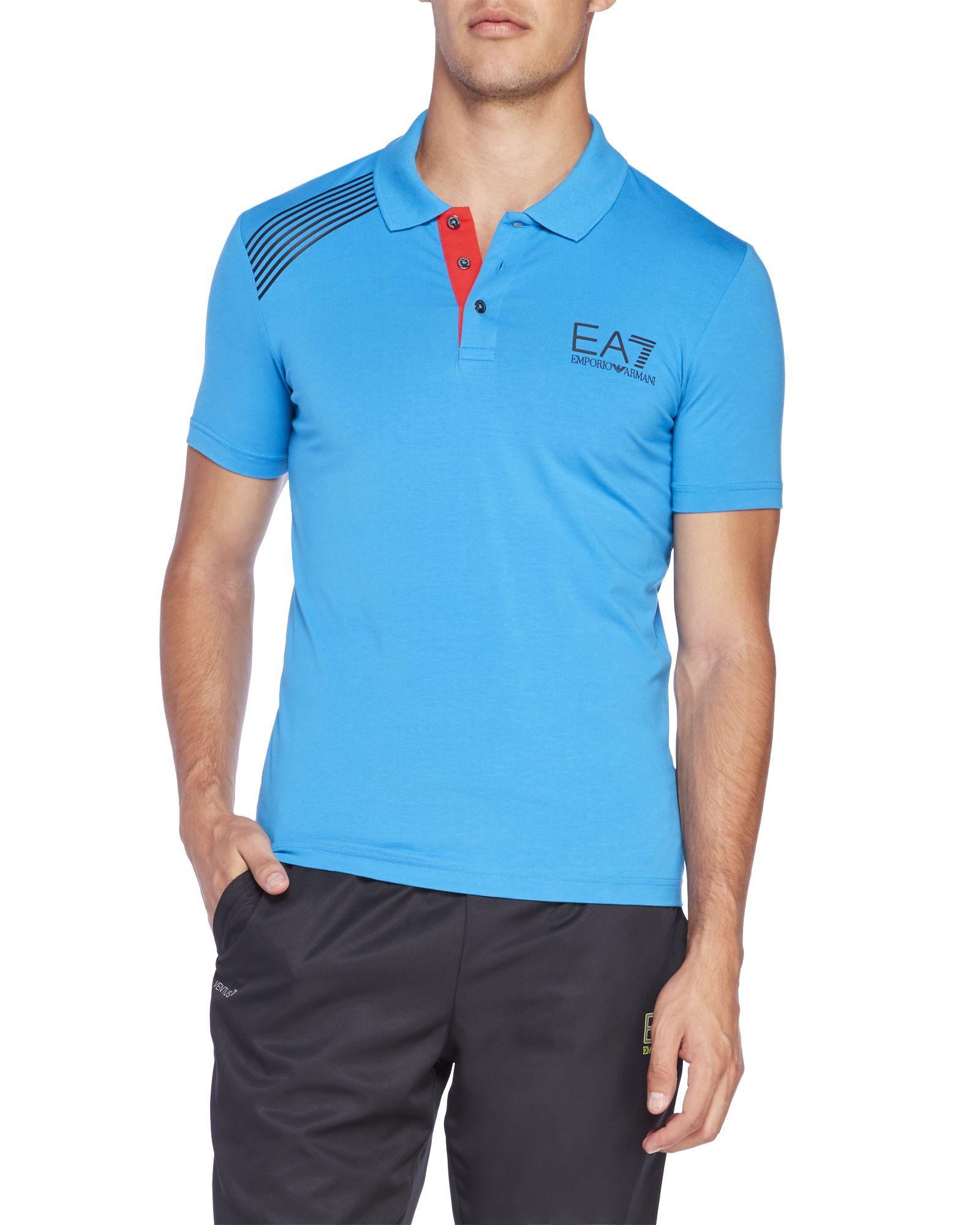Ea7 Emporio Armani Stripe Polo Shirt Century 21 Stores Polo