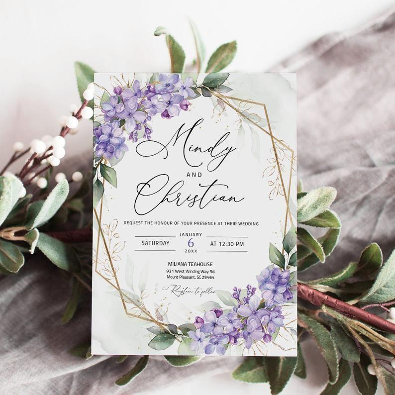 Pin By Judy Mcdaniel On Wedding In 2021 Lilac Wedding Invitations Lavender Wedding Invitations Lilac Wedding