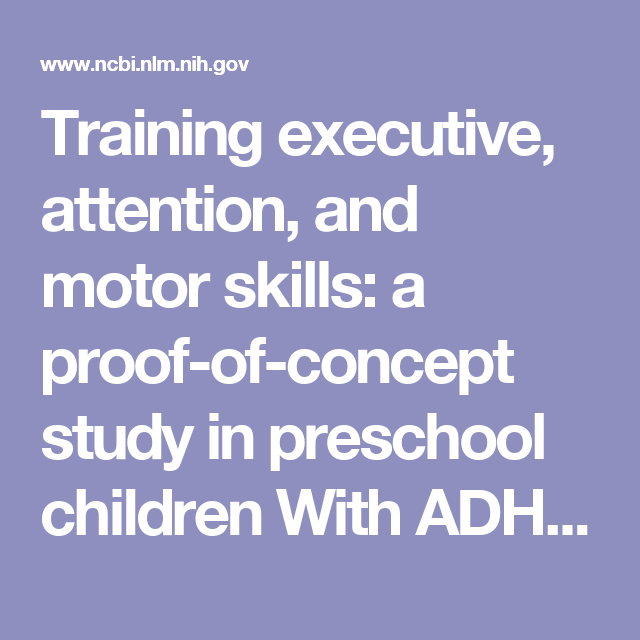 Training Executive Attention And Motor Skills A Proof Of Concept