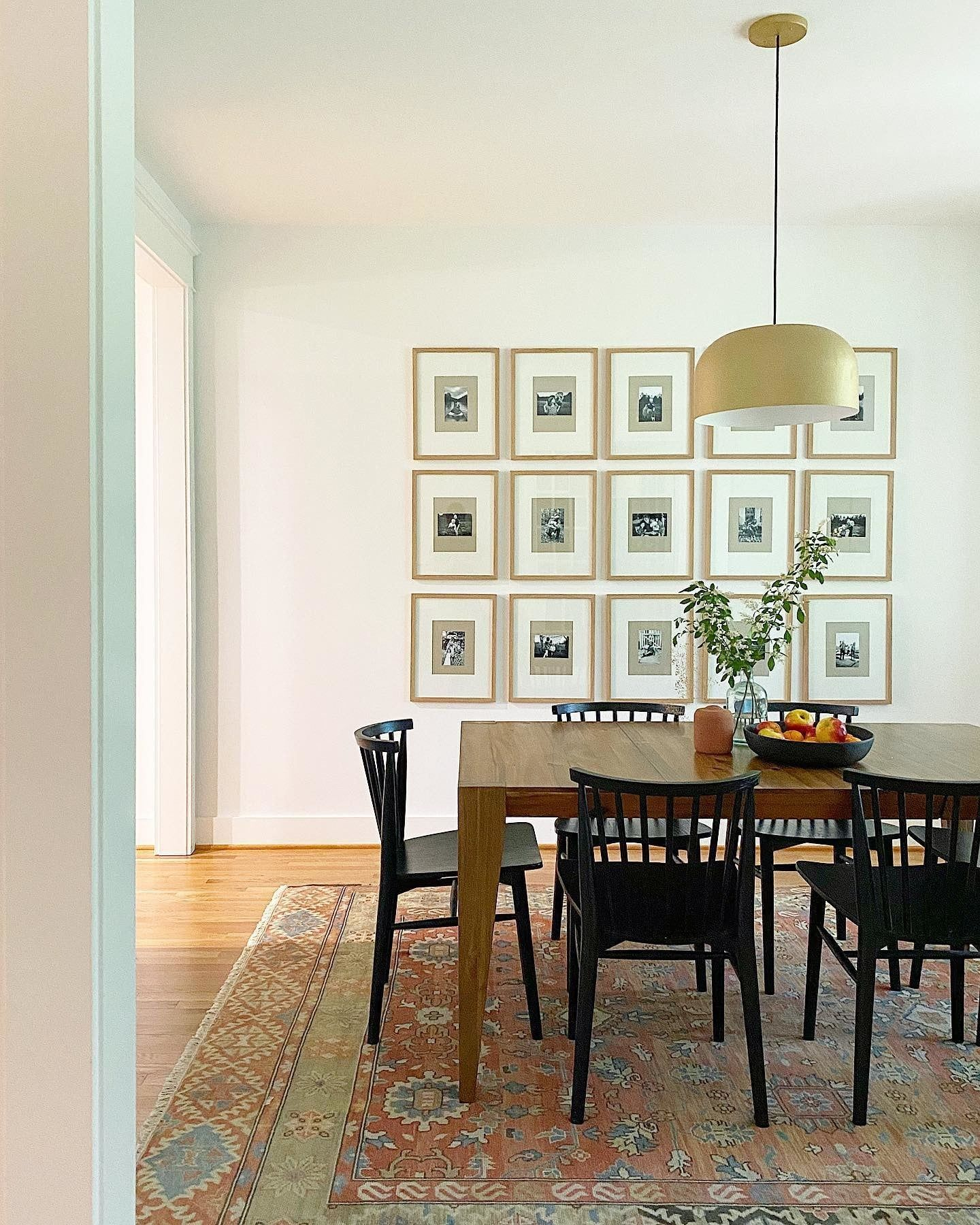 Dining Room Progress Our Gallery Wall Inspired By Housesevendesign Is Up And Filled Wit Dining Room Gallery Wall Spanish Dining Room Black Dining Chairs Dining room progress inspiration