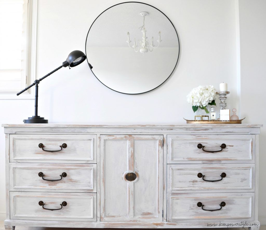 First project in the guest room makeover,, | White washed ...