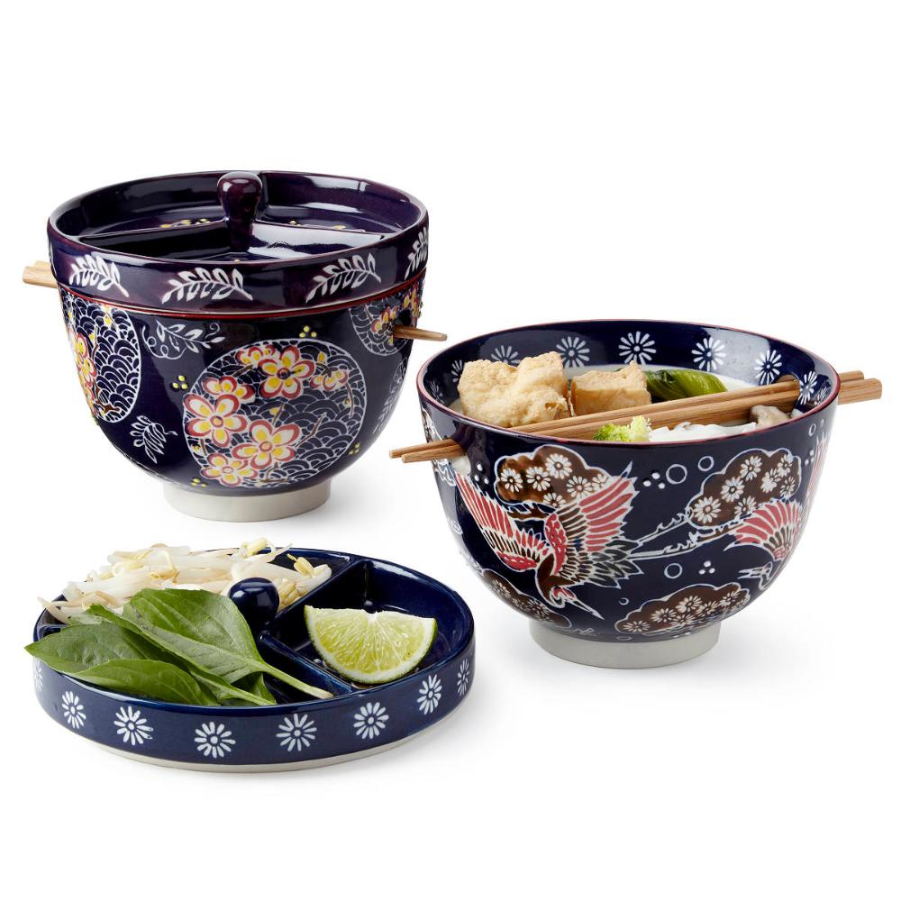 Pho Noodle Bowl w/Chopsticks Noodle Bowl, For Soup (With