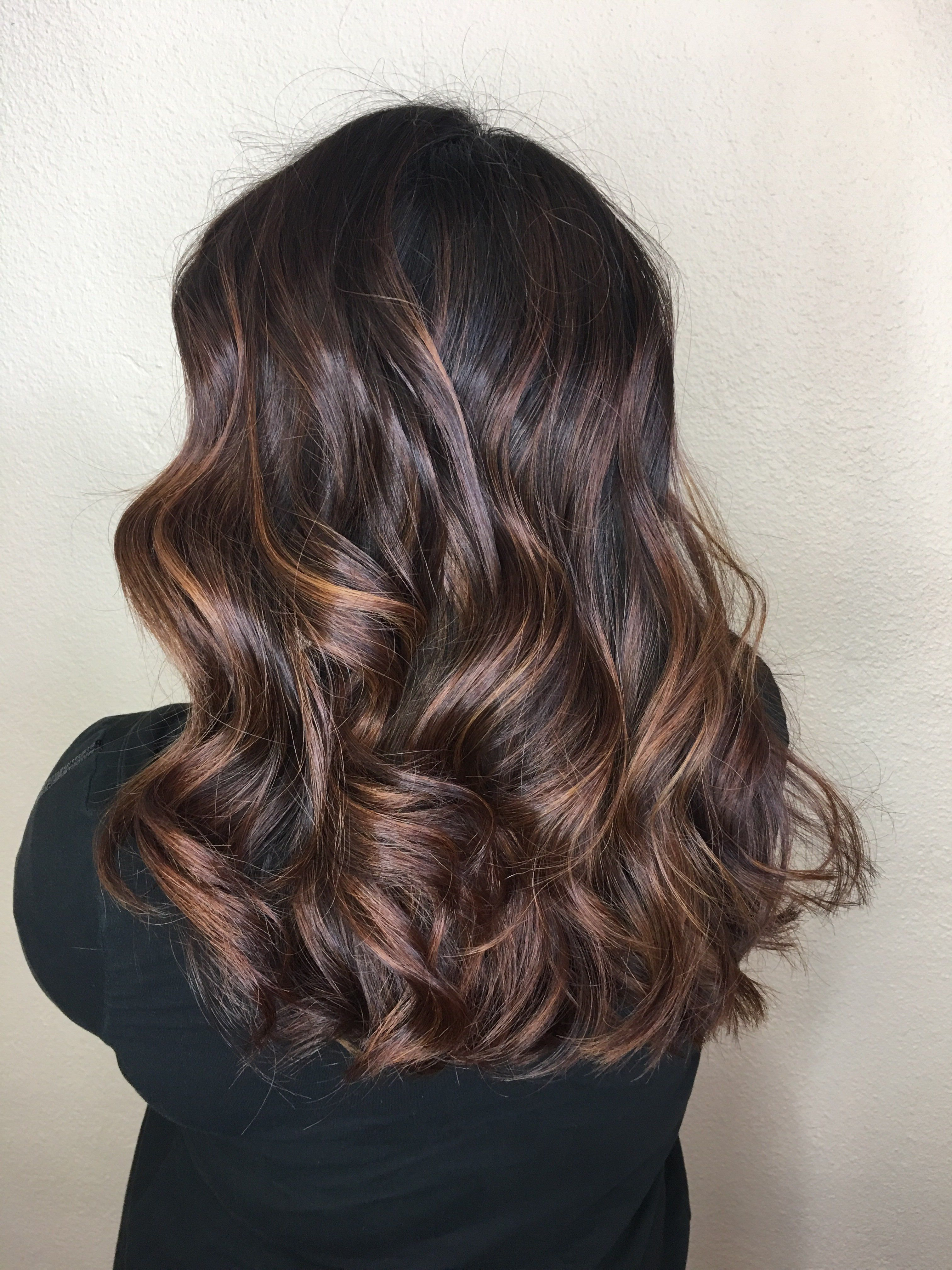 Beautiful Copper Blonde Pieces Rich Root Dark Brown Chocolate Color Medium Length Hair Soft Waves Rich Brown Hair Copper Blonde Medium Length Hair Styles