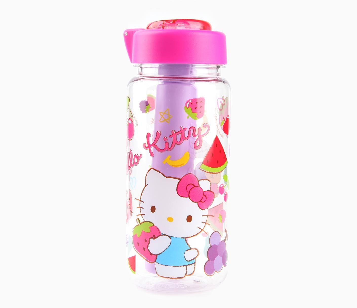 Hello Kitty Water Bottle with Ice Tube: Fruity | Sanrio Kitchen ...
